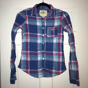 5 for $25! Hollister plaid button up shirt, XS